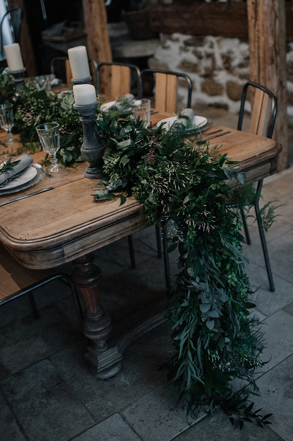 green floral wedding arrangements