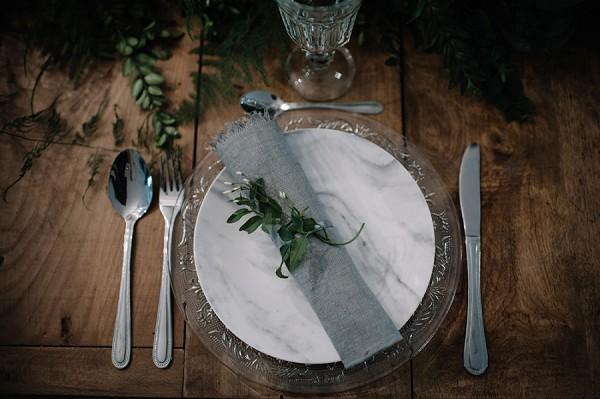 grey linen napkin wedding
