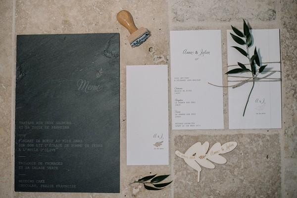 natural wedding day invite