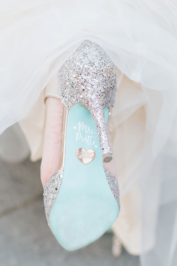 personalise your wedding shoes