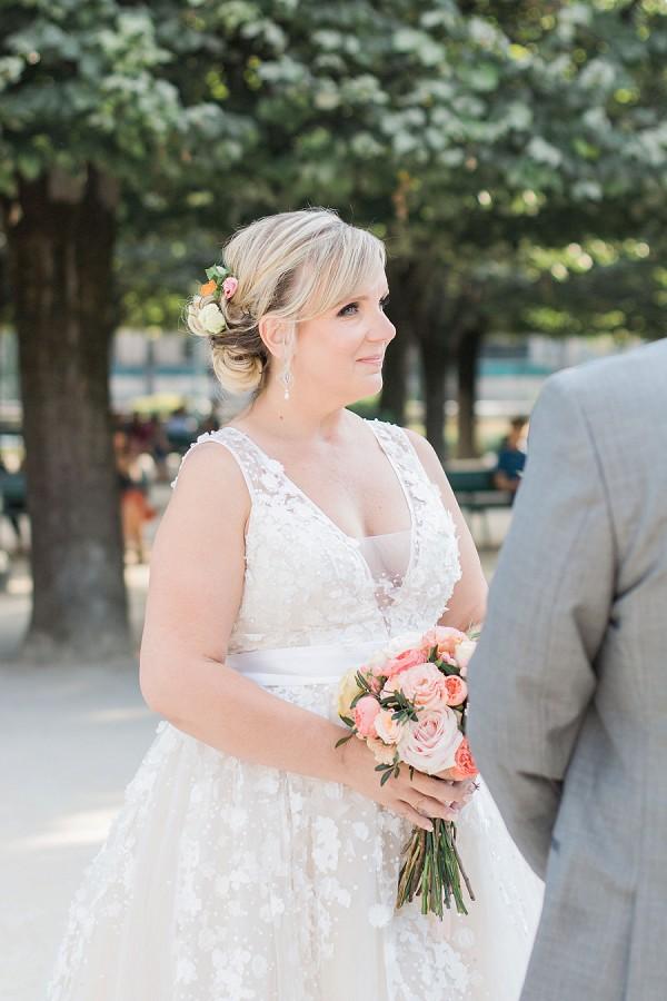 pretty bridal gown Paris