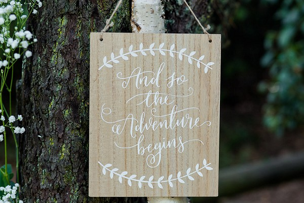 pretty wedding signs