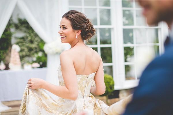 pretty wedding updo look