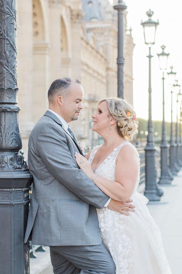 romantic elopement Paris