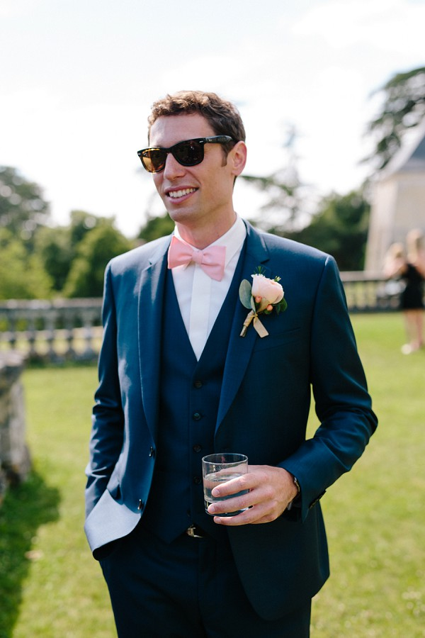 rose buttonhole groom