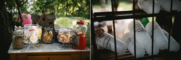 rustic sweet table wedding