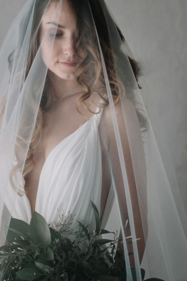 sheer wedding veil photograph