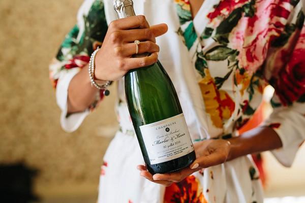 wedding champagne morning