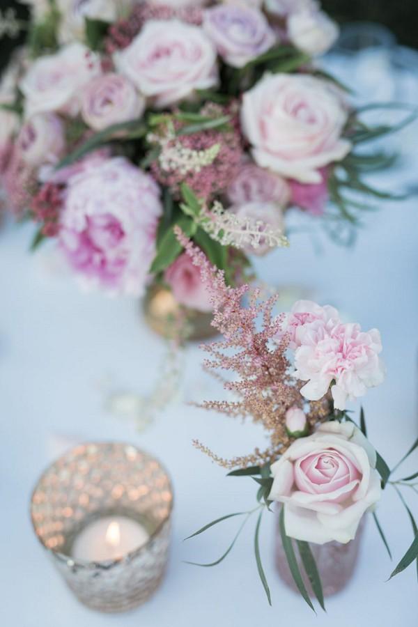 wedding day roses pink