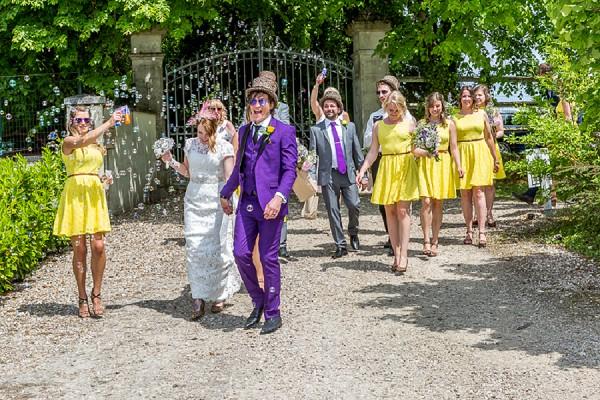 yellow and purple wedding theme