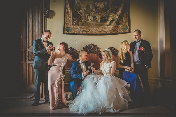 Elegant bridal party picture