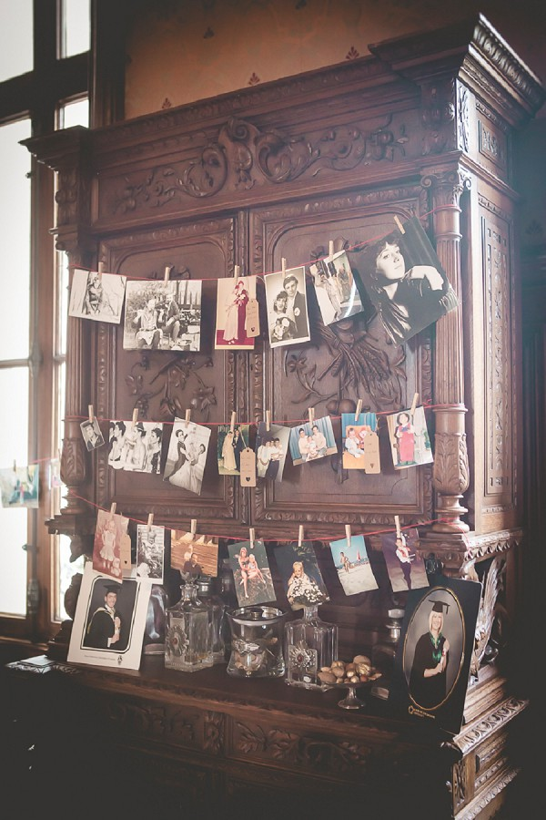 Family wedding picture display