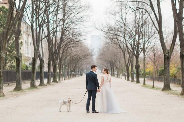 Romantic Paris couple shoot