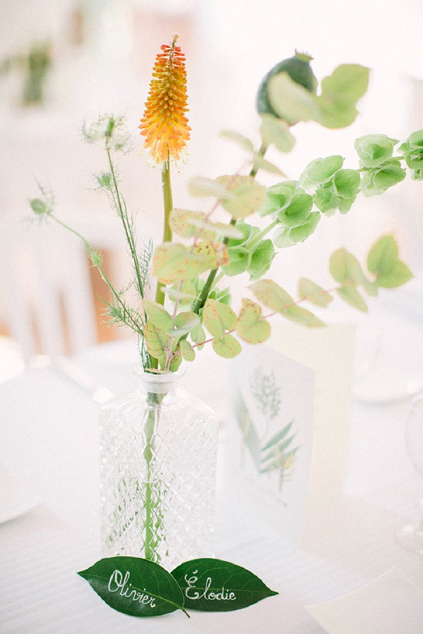 Simple and clean wedding table decor
