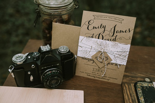 Vintage wedding day touches