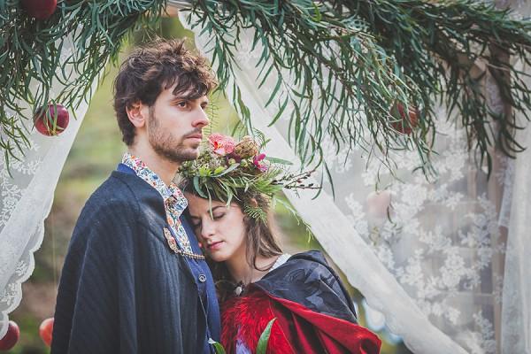 Woodland Inspired Wedding flower crown