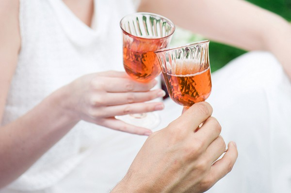 champagne wedding toast