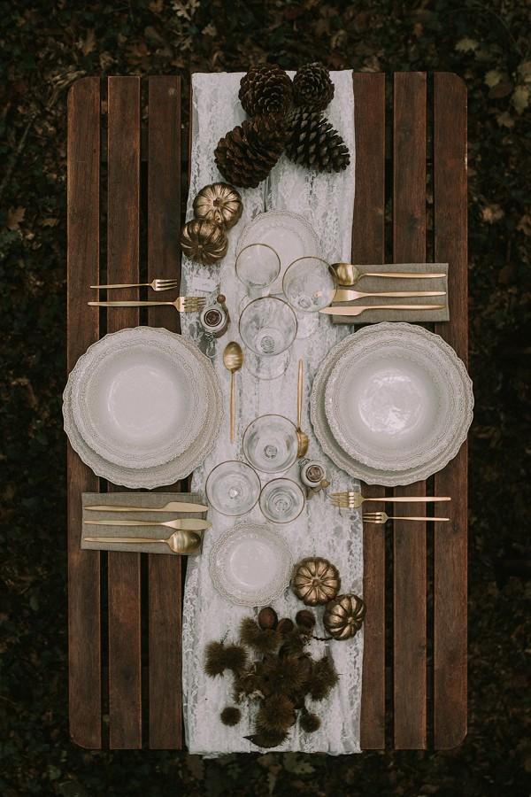cone wedding table decor