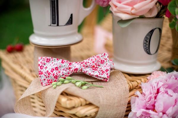 floral bow tie groom