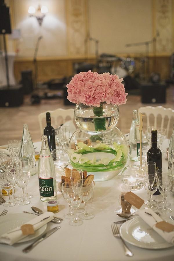 hydrangea wedding centrepiece
