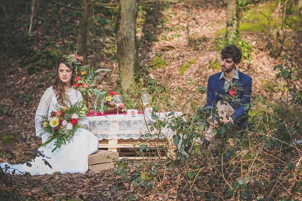 outdoor woodland wedding