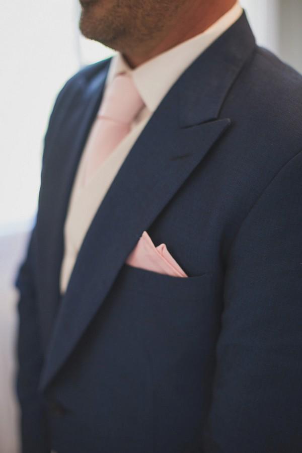 pink wedding tie