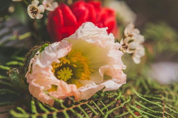 pretty rustic wedding blooms