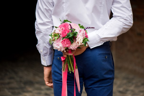 ribbon bridal bouquet