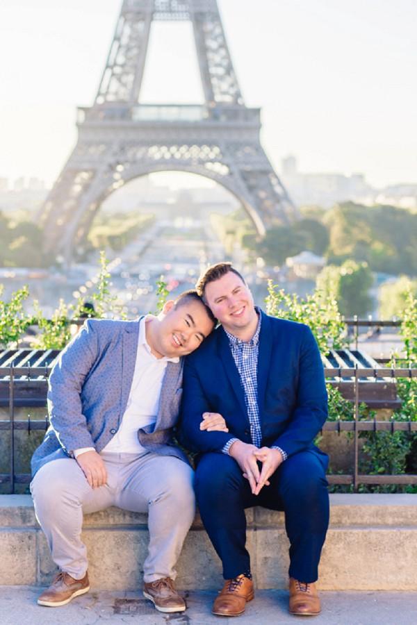 same sex Parisian Couple Shoot