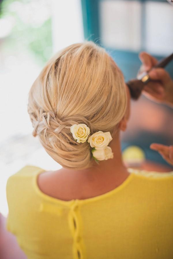 wedding day hair flowers