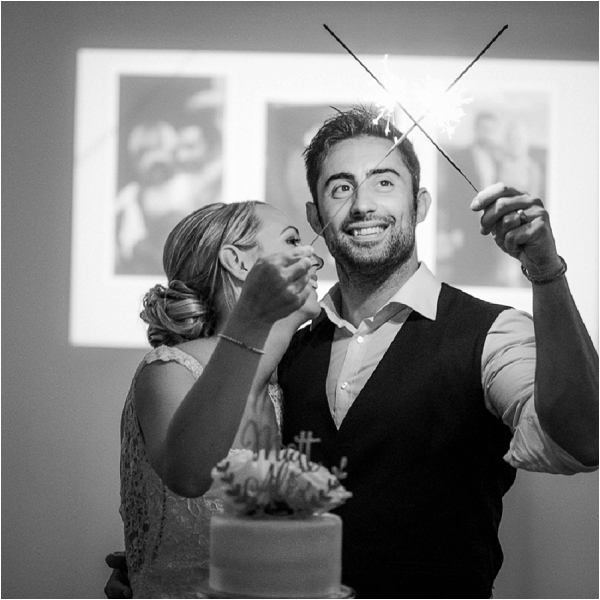 wedding day sparklers | Image by Ian Holmes Photography