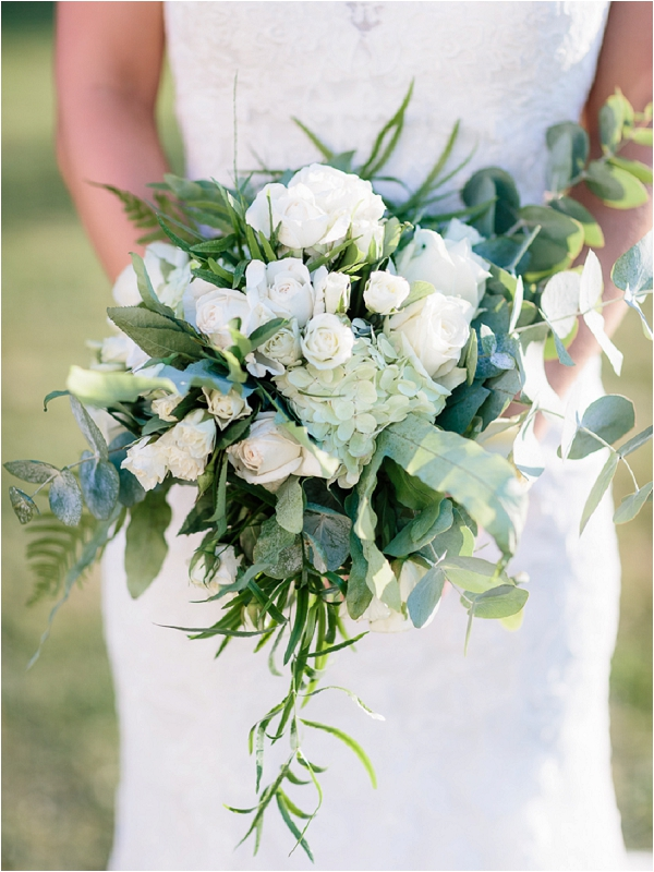 white and green bridal bouquet | Image by Ian Holmes Photography