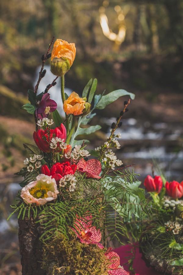 winter inspired florals wedding