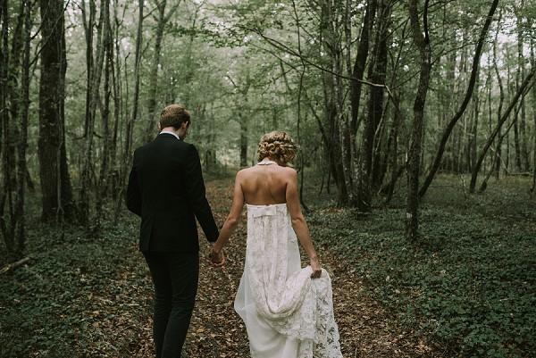 woodsy wedding shoot