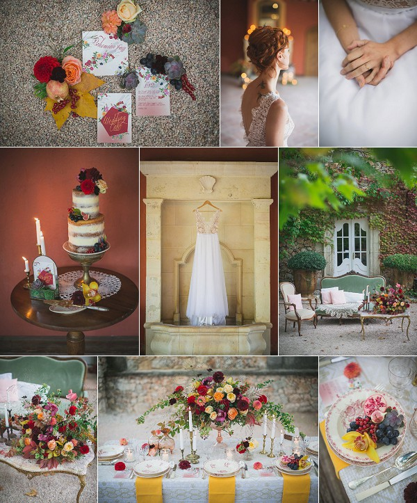 Autumnal Inspired Chateau Wedding Shoot Snapshot