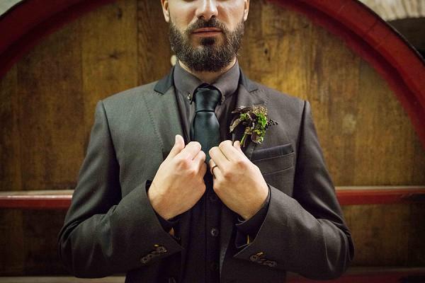 Black Suit Groom