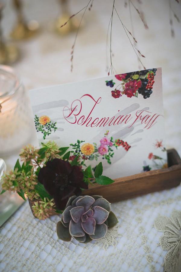 Boho Autumn Wedding