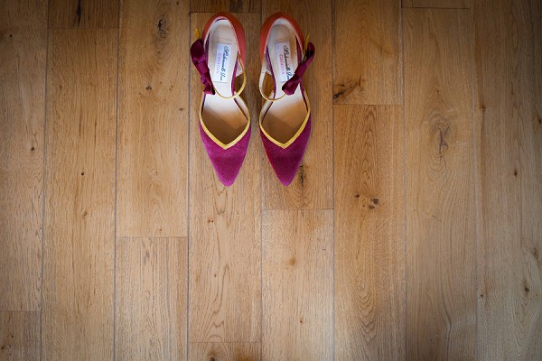 Burgundy wedding heels