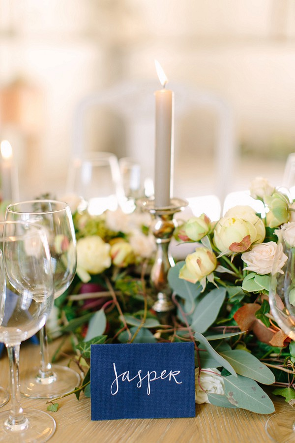 Calligraphy Wedding Table Setting