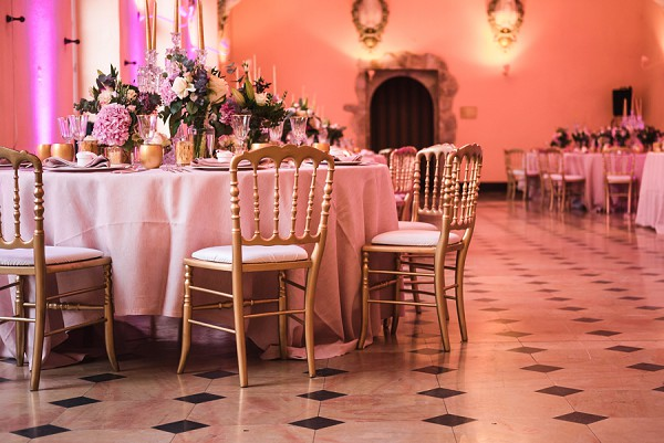 Chateau wedding reception