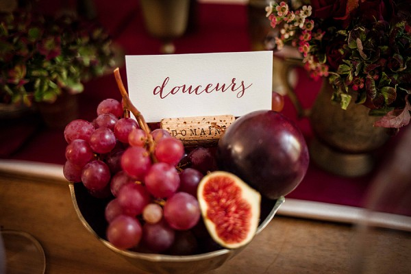 Cork Wedding Table Details