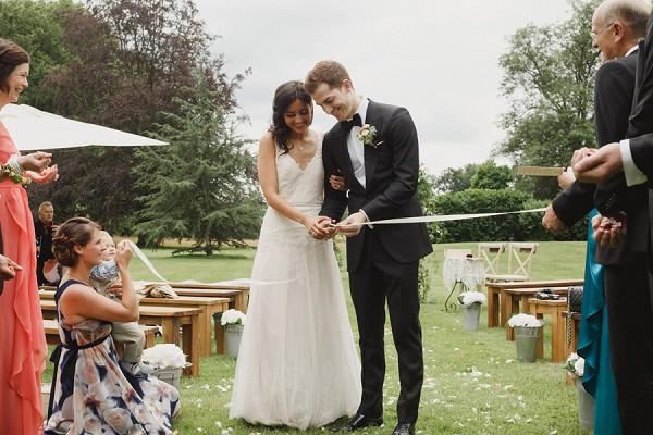 Cut the ribbon wedding day