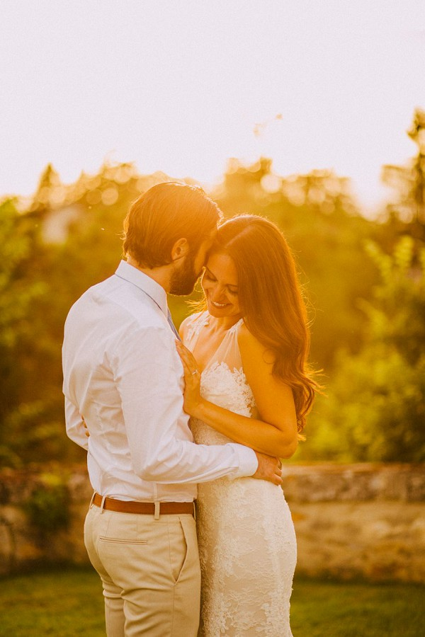 Golden hour wedding images
