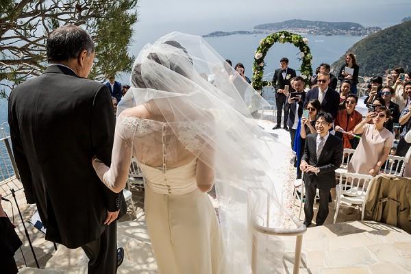 Hilltop wedding France