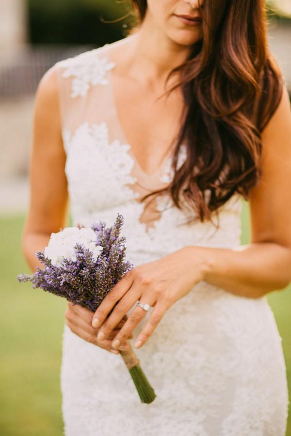 Lavendar wedding flowers