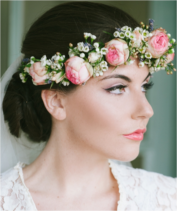 Natural looking bridal make up by, Make up Artist in France Mel Kinsman, image by The Slater Picture Co