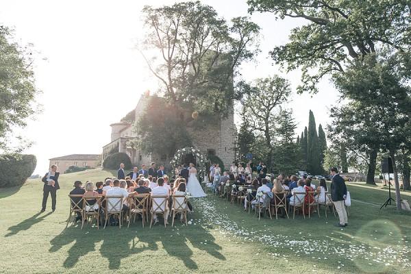 Romantic wedding ceremony Nice