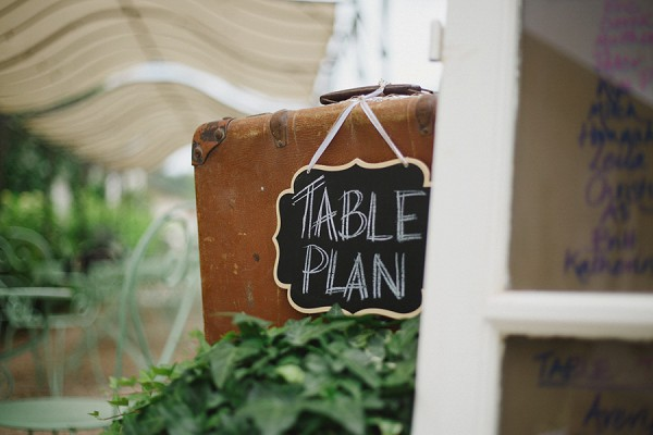 Vintage table plan