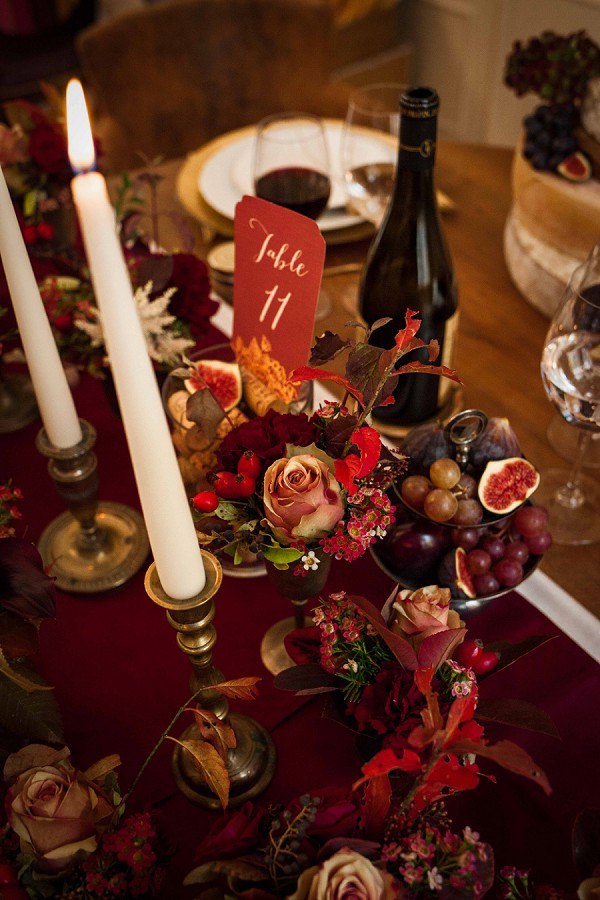 Wedding Table Fig and Grapes