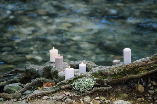 Woodland candle lit ceremony